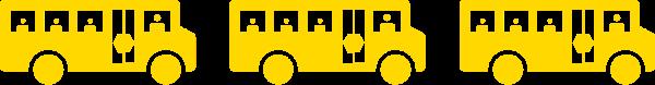 Three Yellow Buses