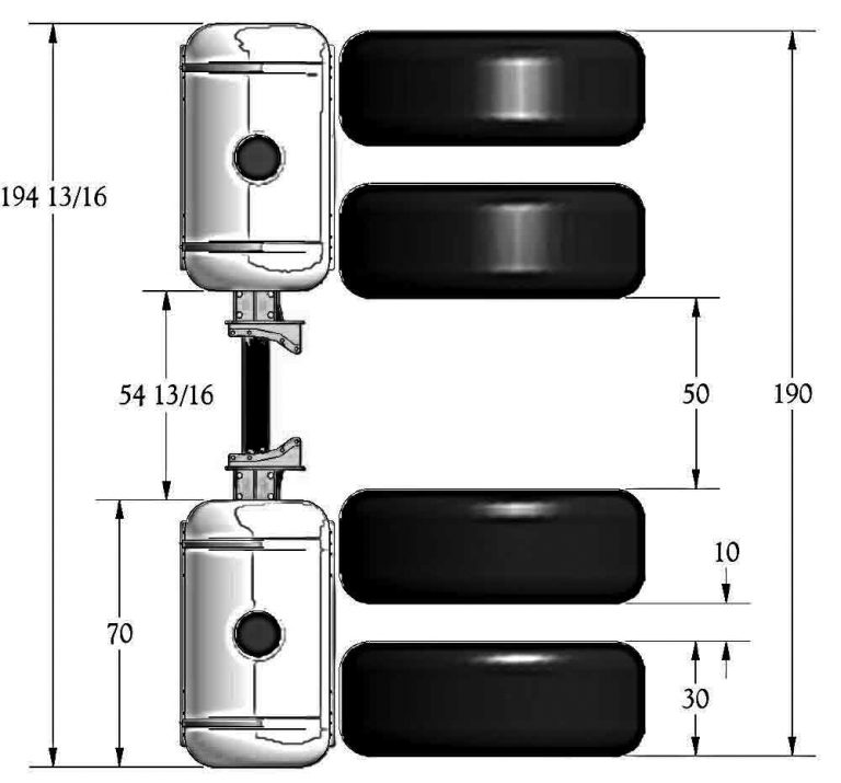 Helicopter Tank Dimensions For Four Wheel Drive Tractor