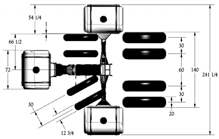 Front Dual Helicopter Tank Dimensions
