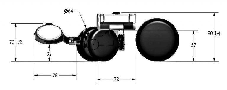 Front Dual Fertilizer Tank Dimensions