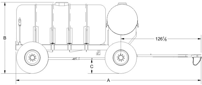 Double Tank Fertilizer Trailer Dimensions