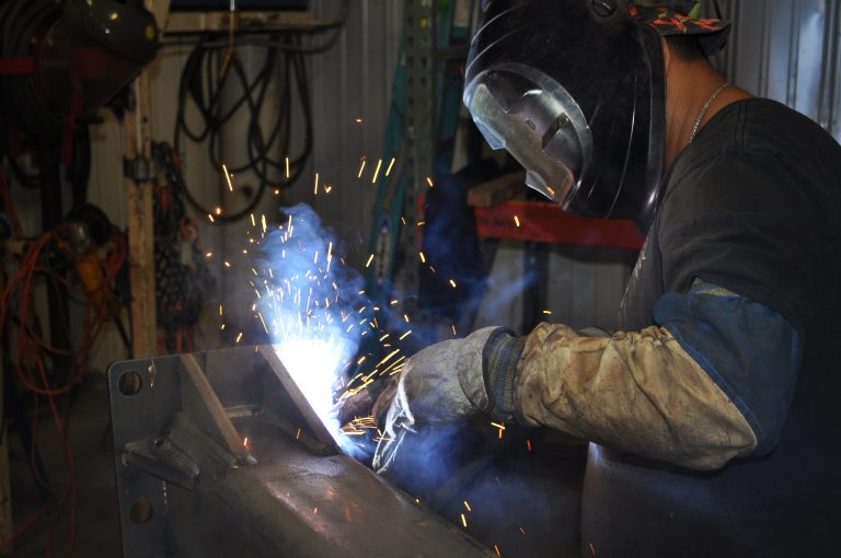 Welder Throwing Sparks